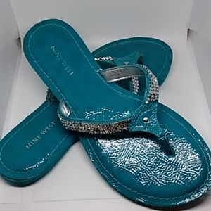 Turquoise Nine West Sandals